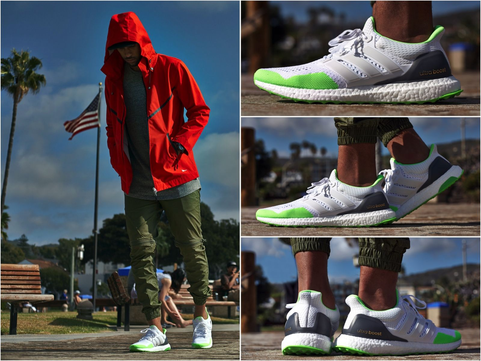 a5c6948d18072 ON-FOOT LOOK    ADIDAS ULTRA BOOST WHITE GREEN