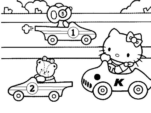 Pin by TENA M on HELLO KITTYCOLOR PAGES Pinterest Hello - new coloring pages with hello kitty