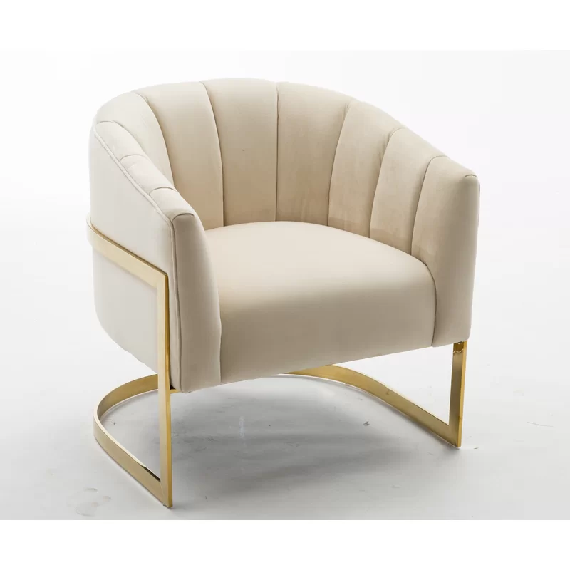 Arsenault Barrel Chair Barrel Chair White Accent Chair Accent Chairs For Living Room