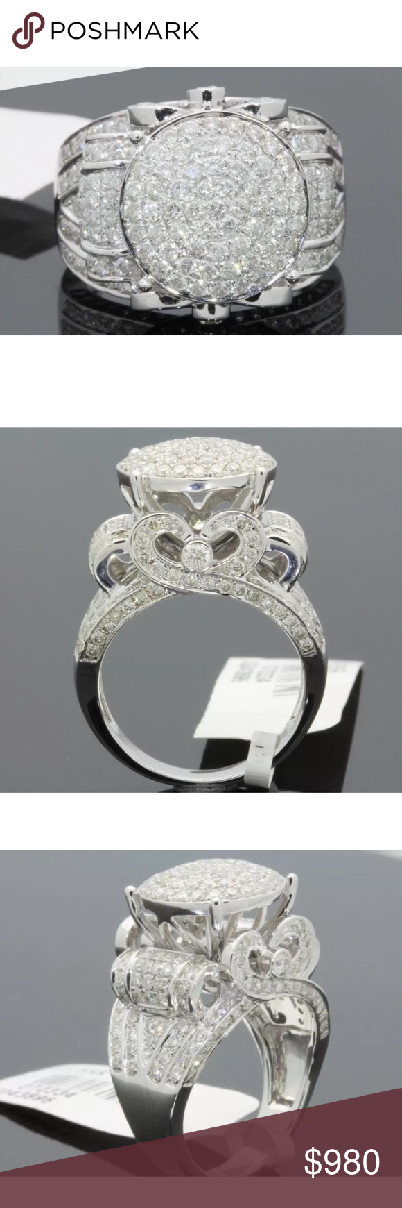 Amazing 2 5 Carat 10k White Gold Diamond Ring Amazing 2 5 Carat 10k White Gold Diamond Rin Unique Diamond Rings Stunning Diamond Rings White Gold Diamond Rings