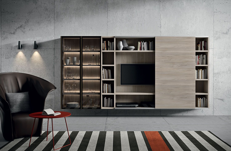 Wandmeubel novamobili giorno tv meubel audio meubel hoogglans