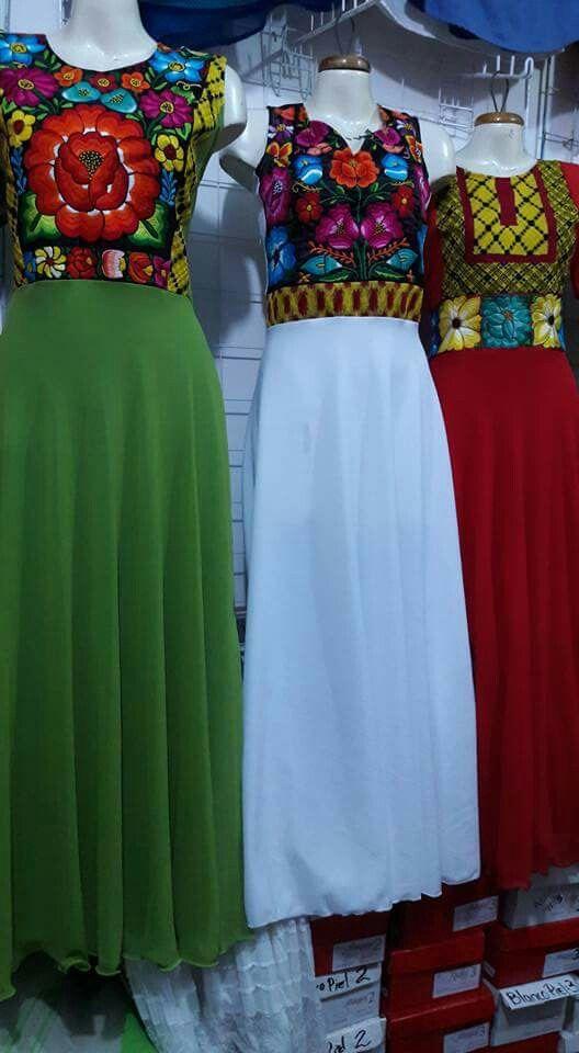 Hermosos Vestidos Artesanales Del Edo De Oaxaca En 2019