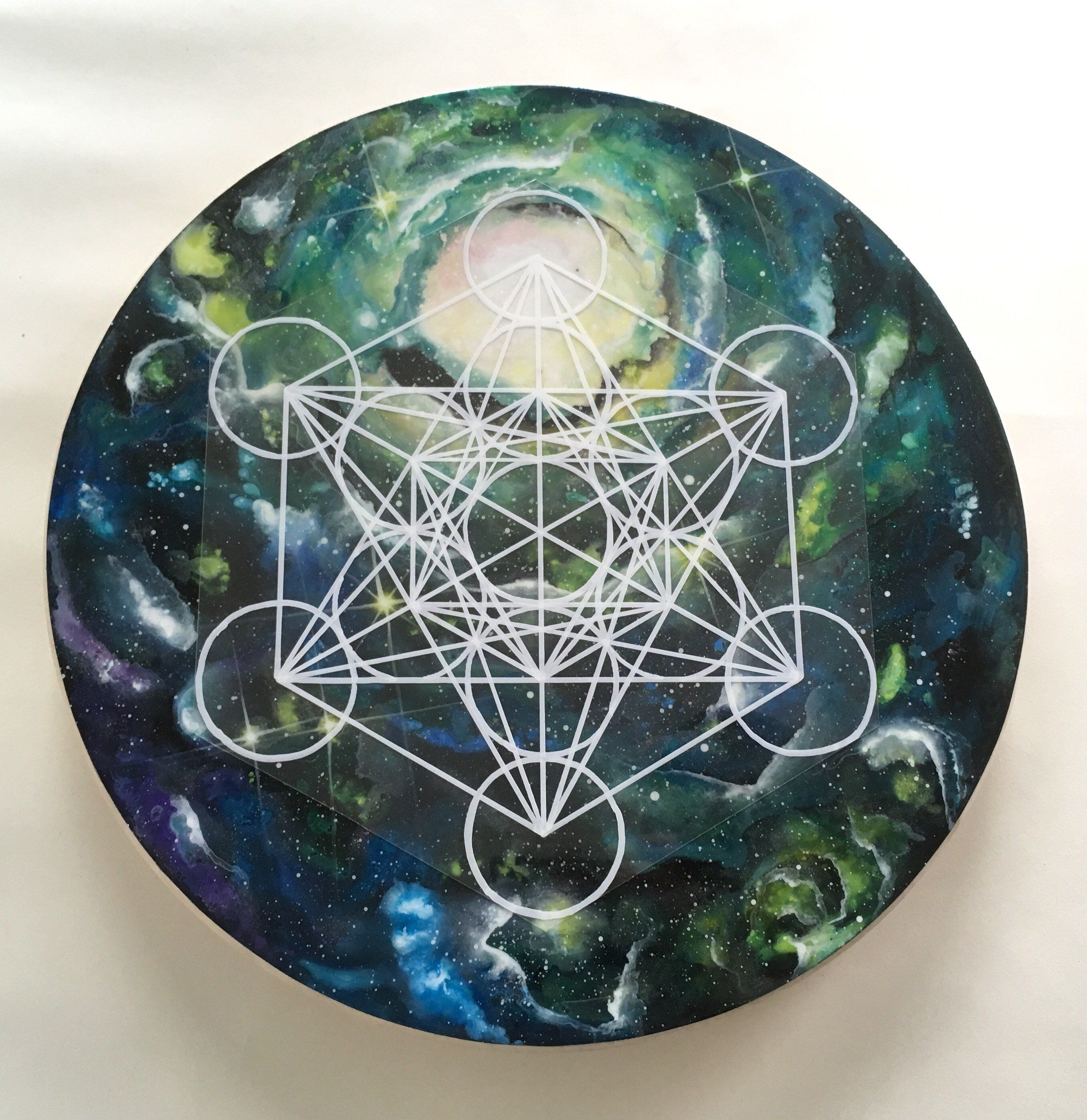 Galactic crystal grid cosmic lazy susan interchangeable