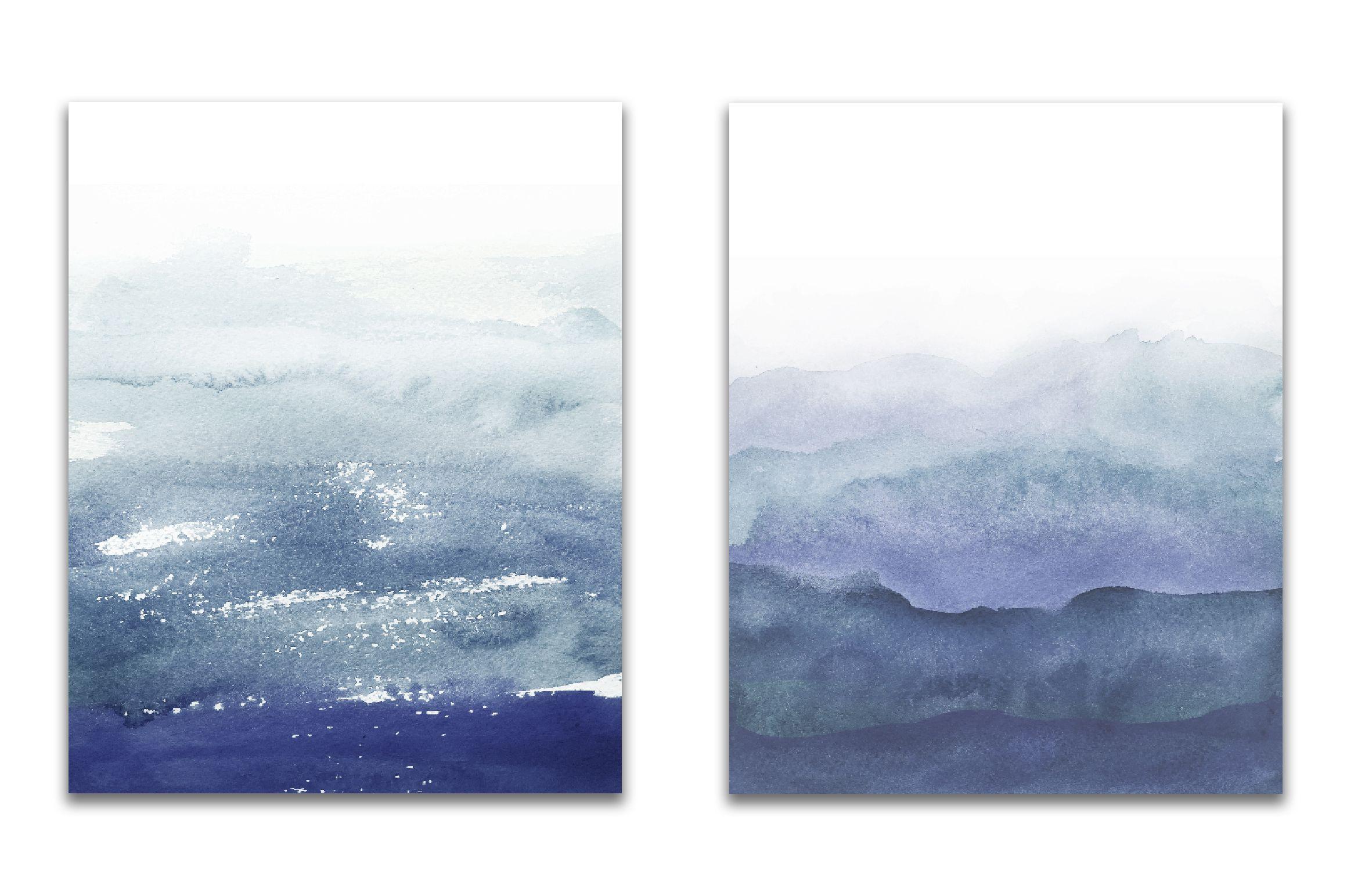 Navy Blue ombre watercolor Watercolor ombre, Purple
