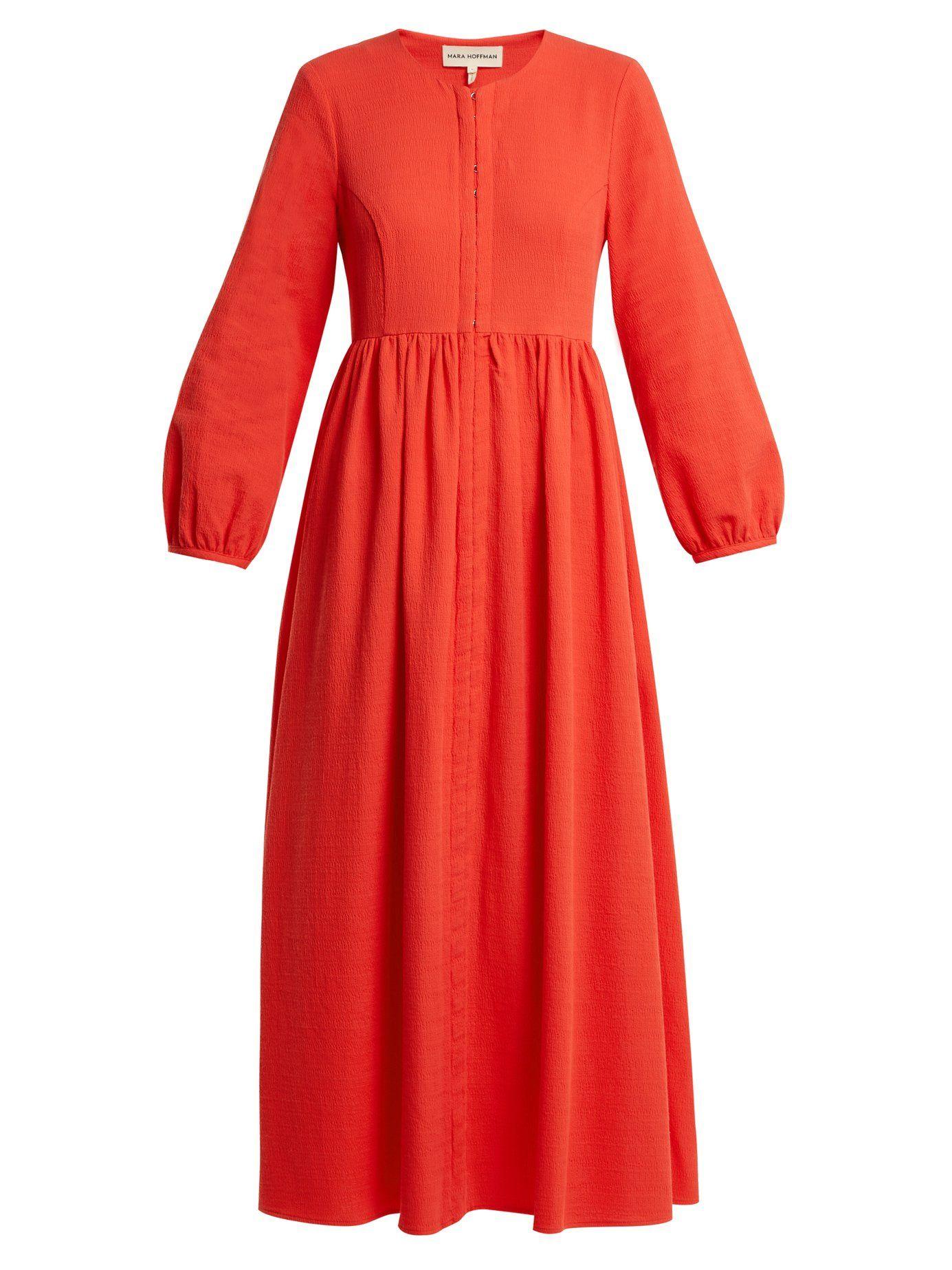 Paula balloon-sleeved organic-cotton dress Mara Hoffman 2A6a6