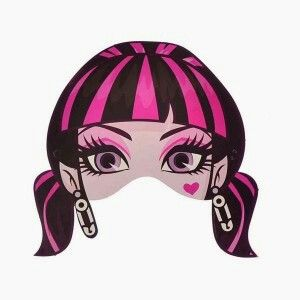 Draculaura mask monster high monster high birthday monster high party monster party - Masque monster high ...