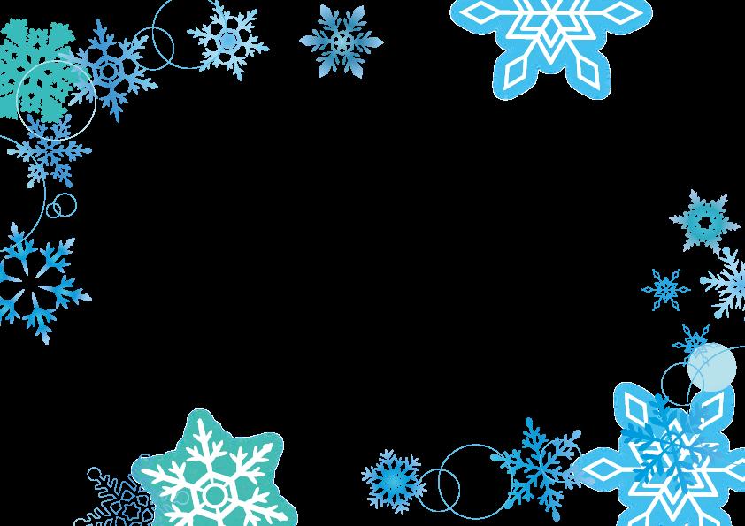 雪の結晶のフレーム 枠 フレーム 無料 花 フレーム クリスマスカード 手作り