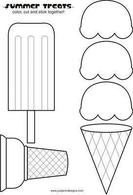 Cream ÉtéDinette Enfant Ice Et TemplateTout Petits Bricolage 7Iv6Ybfgy