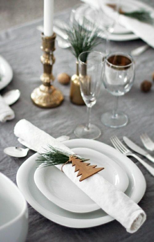 35 ides de dco de table de fte pour nol - Idee De Deco Pour Noel