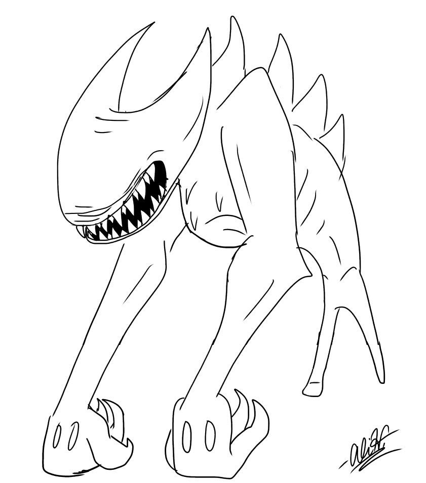 Batim Coloring Pages Beast Bendy Google Search Coloring Pages Bird Coloring Pages Love Coloring Pages