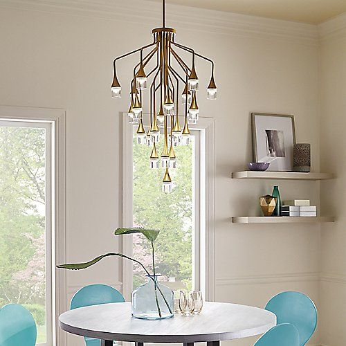 Patrona chandelier chandeliers lights and modern the stunning patrona chandelier by tech lighting is a modern interpretation of the classic crystal chandelier featuring 22 precisely executed metal stems aloadofball Gallery