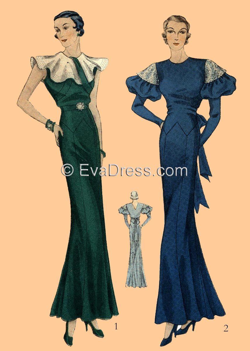 Us dress pattern reproduction pinterest