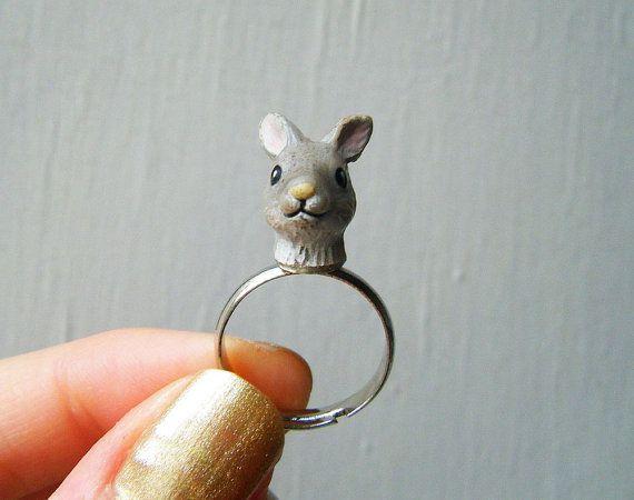 Adjustable Ring  Vintage Plastic Kangaroo by theTriangleOfBears, $8.00