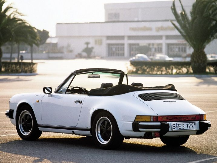 Porsche 911 SC 3.0 Cabriolet (1982 – 1983).  Ain't she be-you-ti-ful!!  :-)