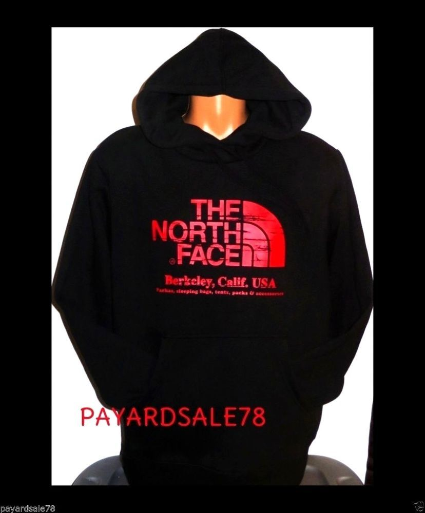 097f9a364 MEN'S SIZE LARGE THE NORTH FACE HOODIE SWEATSHIRT FLEECE LINED BLACK ...