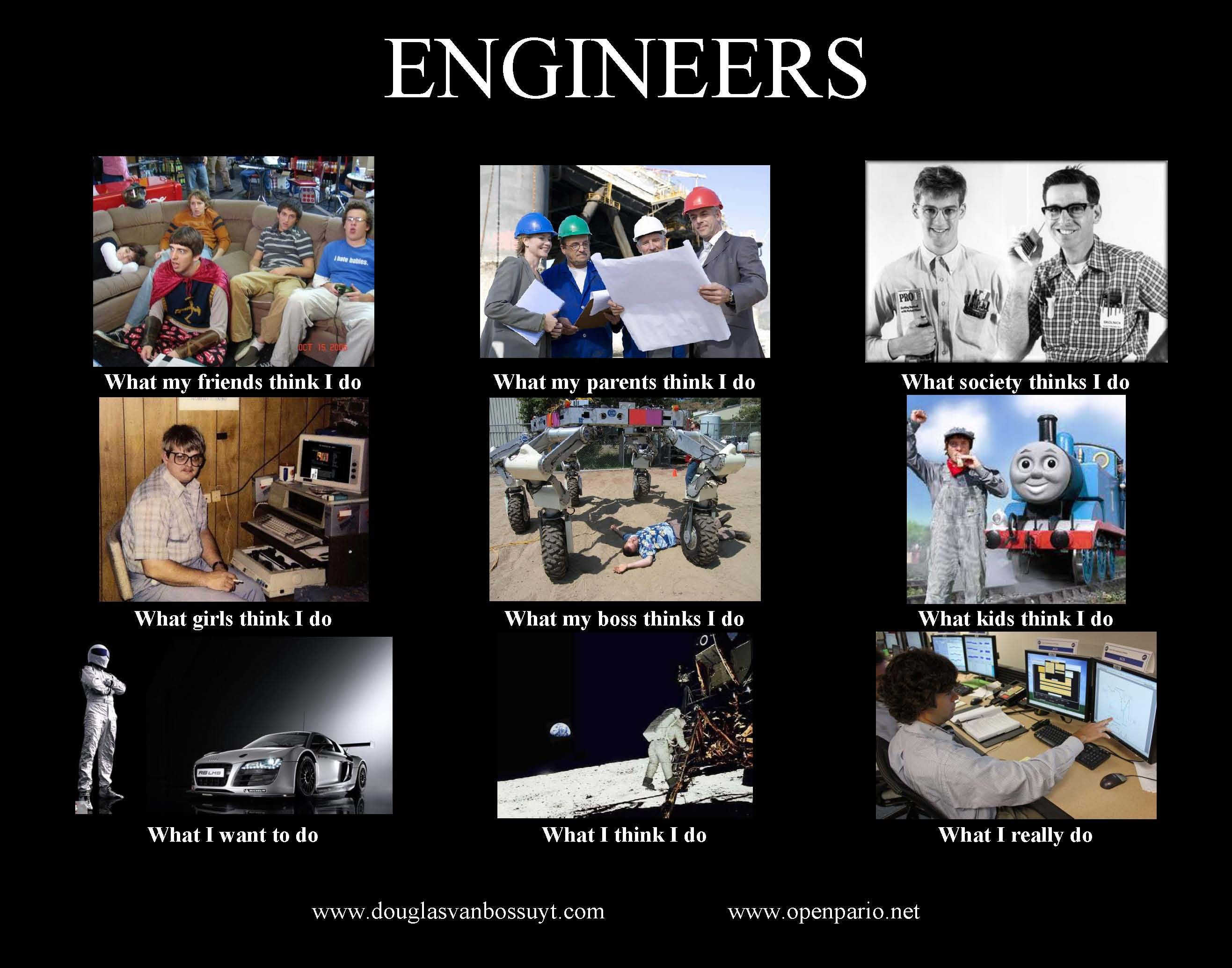 b1a76e13ae58fe4e6c47b849d2429b5f what people think i do\u201d meme about yes, there are engineers in
