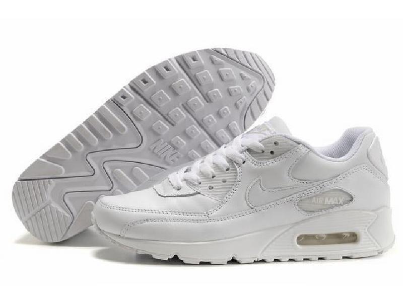 Köp Nike Air Max 90 Leather WhiteWhite Skor Online | FOOTWAY.se