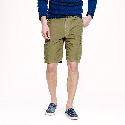 Garment-dyed cargo short
