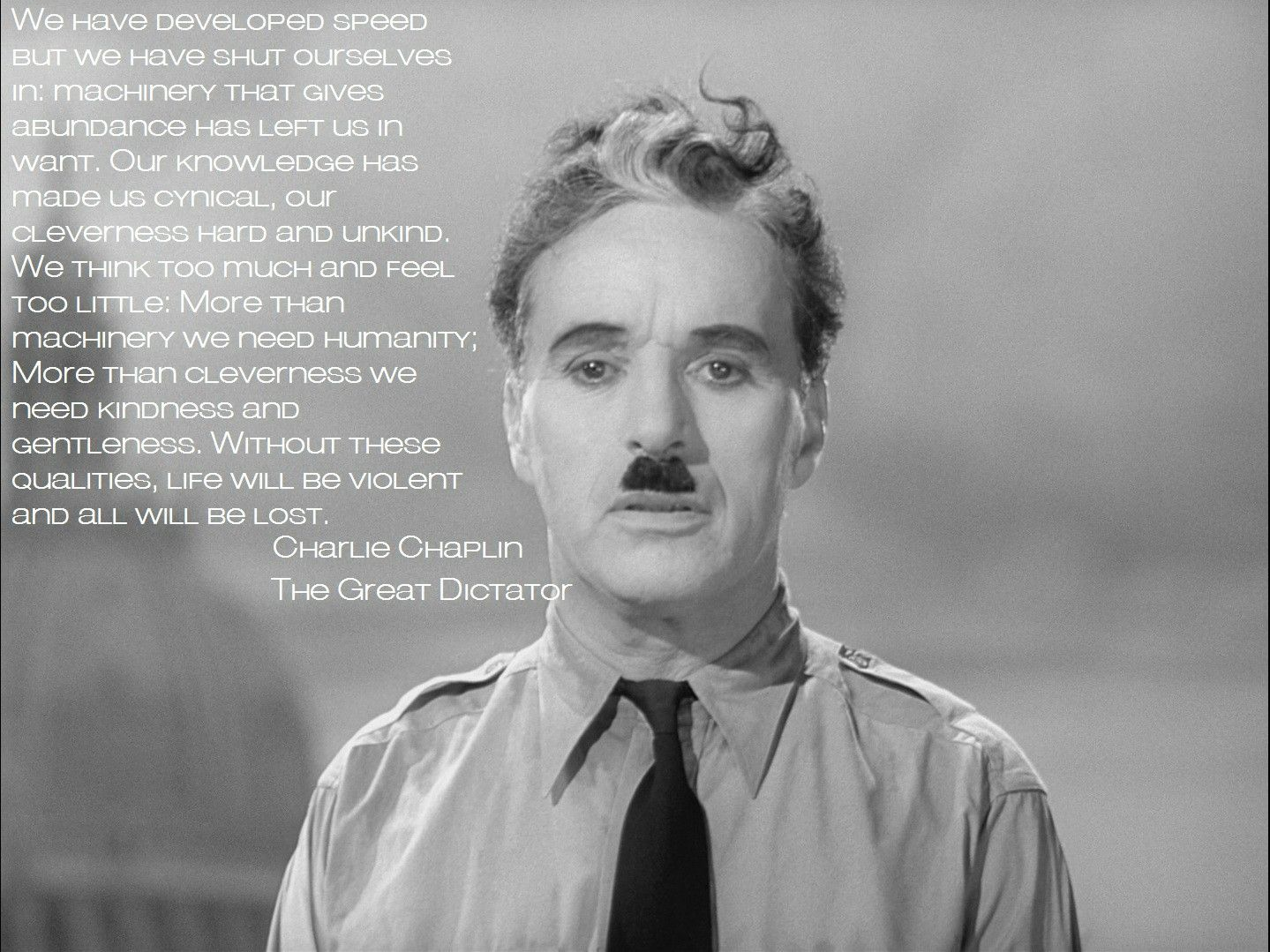 Charlie Chaplin in The Great Dictator.