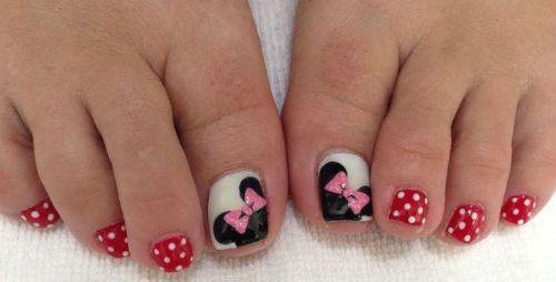 Decoraciones Para Unas De Pies Mickey Mouse Uñas Pinte