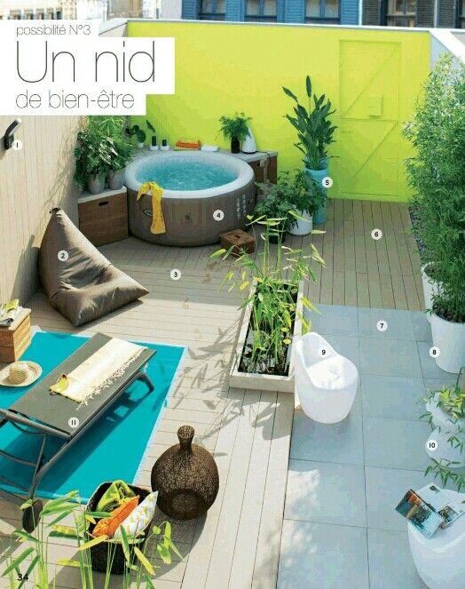 id e d 39 int gration jacuzzi sur la terrasse via catalogue leroy merlin jardin 2015 jardin. Black Bedroom Furniture Sets. Home Design Ideas