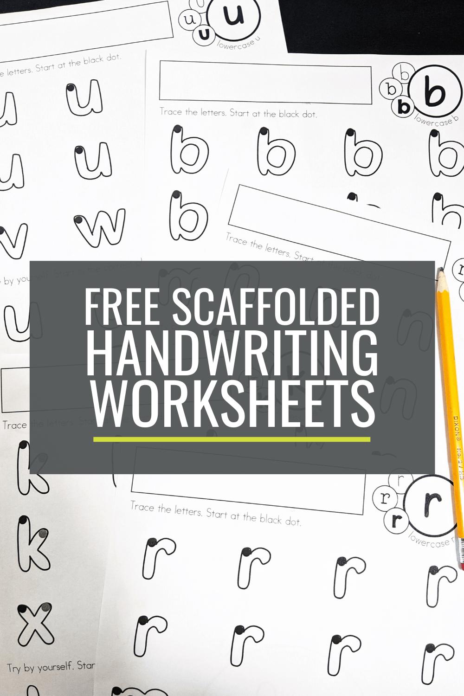 Free Scaffolded Handwriting Worksheets For Kindergarten Lowercase A Z Writing Practice Preschool Handwriting Worksheets For Kindergarten Teaching Handwriting [ 1500 x 1000 Pixel ]