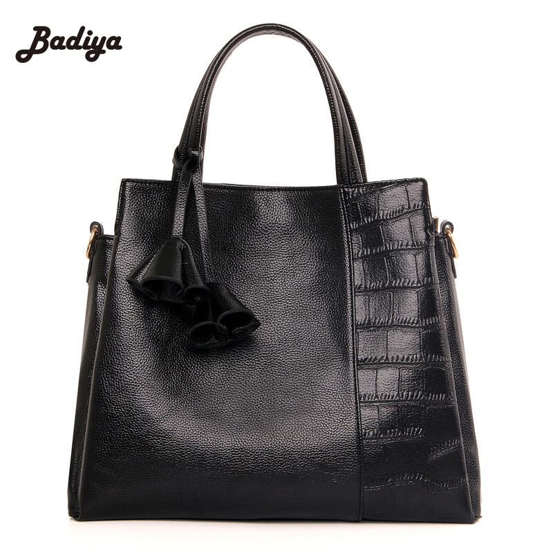 61df6cac4210 PU Leather Handbag Fashion Women Tassel Bag Totes Women Brief Shoulder Bags  Large Capacity Luxury Handbags
