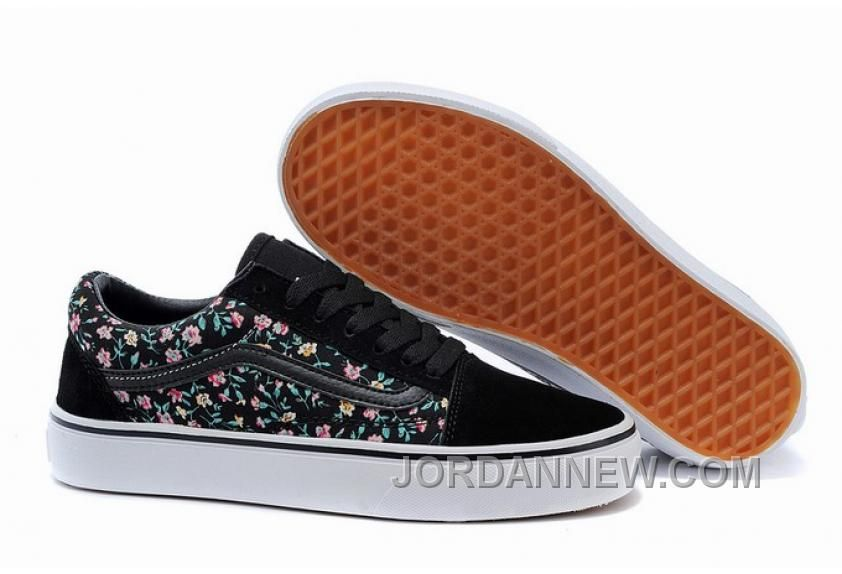 cd9e50b867 Buy Vans Old Skool Black Gray Floral Womens Shoes Discount from Reliable Vans  Old Skool Black Gray Floral Womens Shoes Discount suppliers.