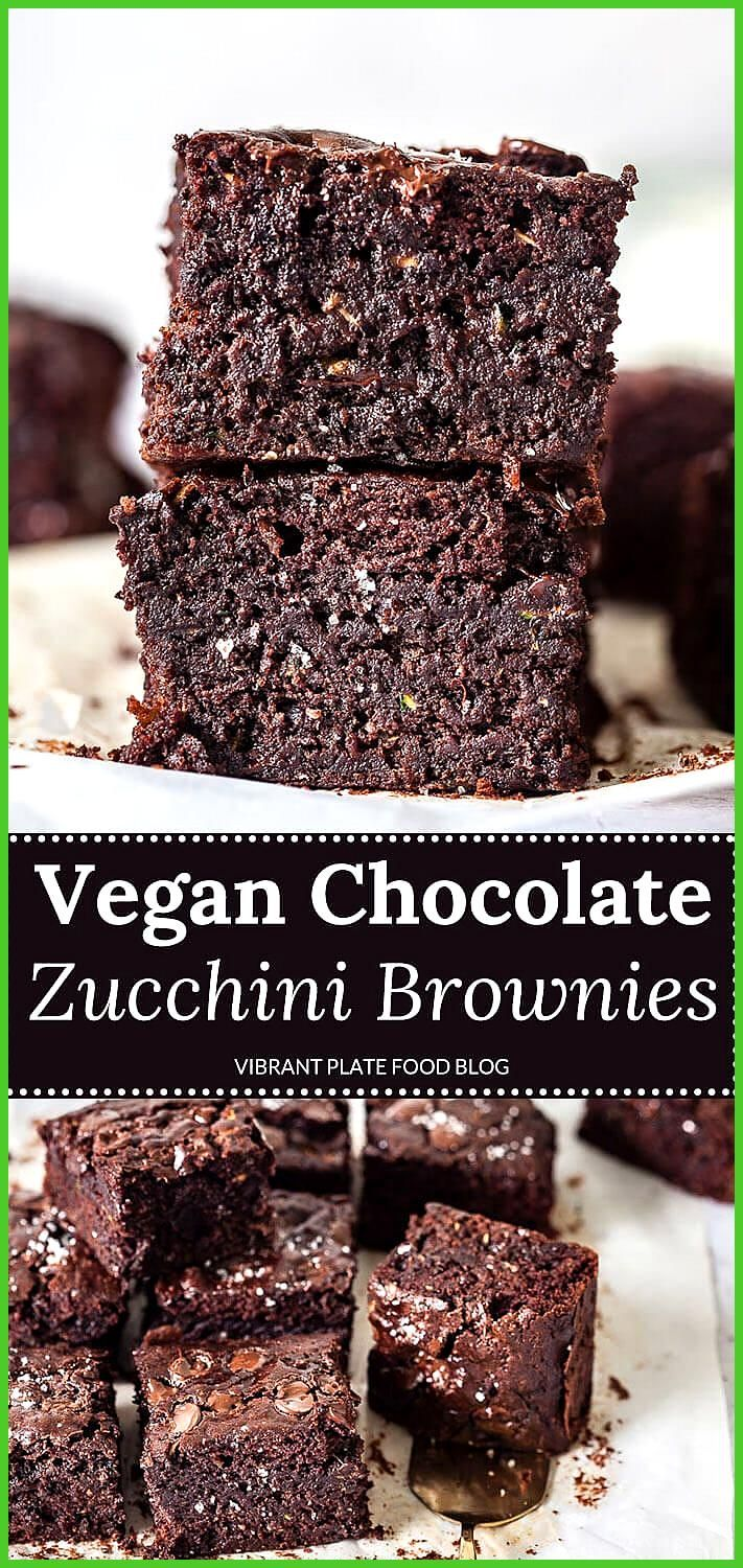 Vegan Chocolate Zucchini Brownies These Chocolate Zucchini Brownies are as delicious as they are ea