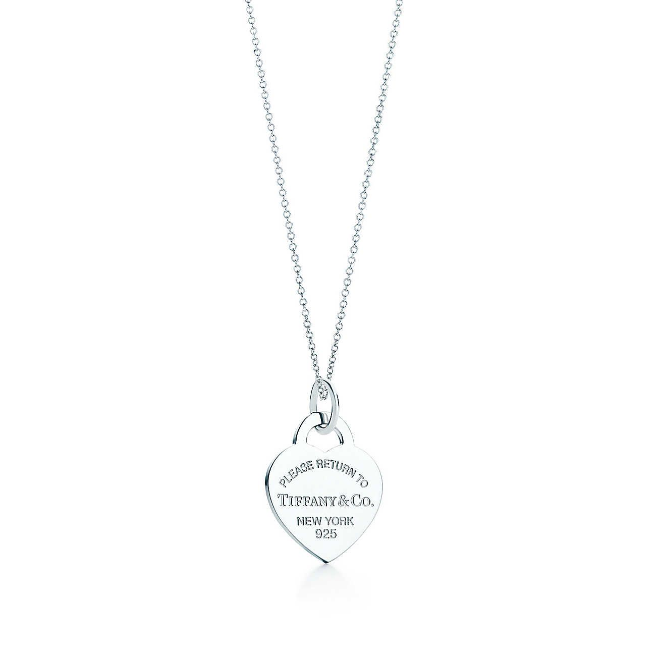Return to Tiffany™ Heart tag charm and chain