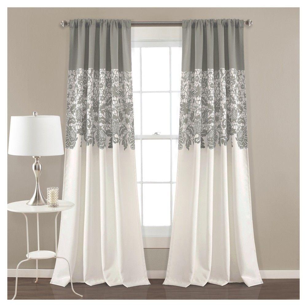 84 X52 Estate Garden Print Room Darkening Window Curtain Set Red Lush Decor Floral Room Lush Decor Curtains