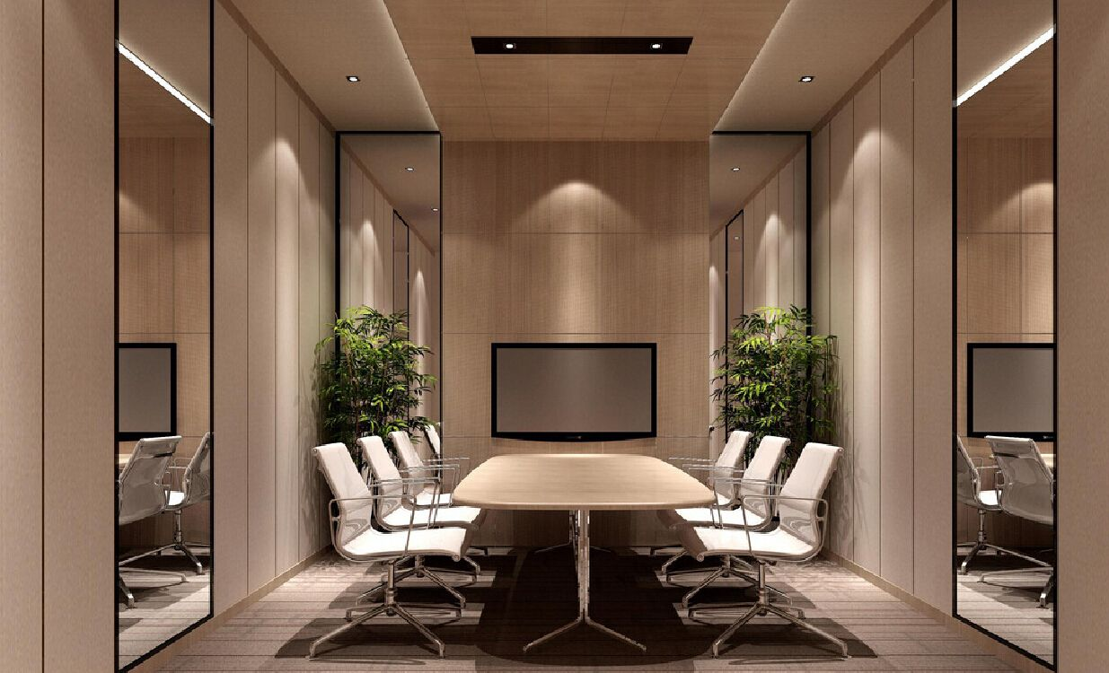 Conference Room Design Ideas interior breathtaking meeting room design ideas with fabulous large white conference table and comfortable broken white chairs also modern yellow wall Interior Design Meeting Room