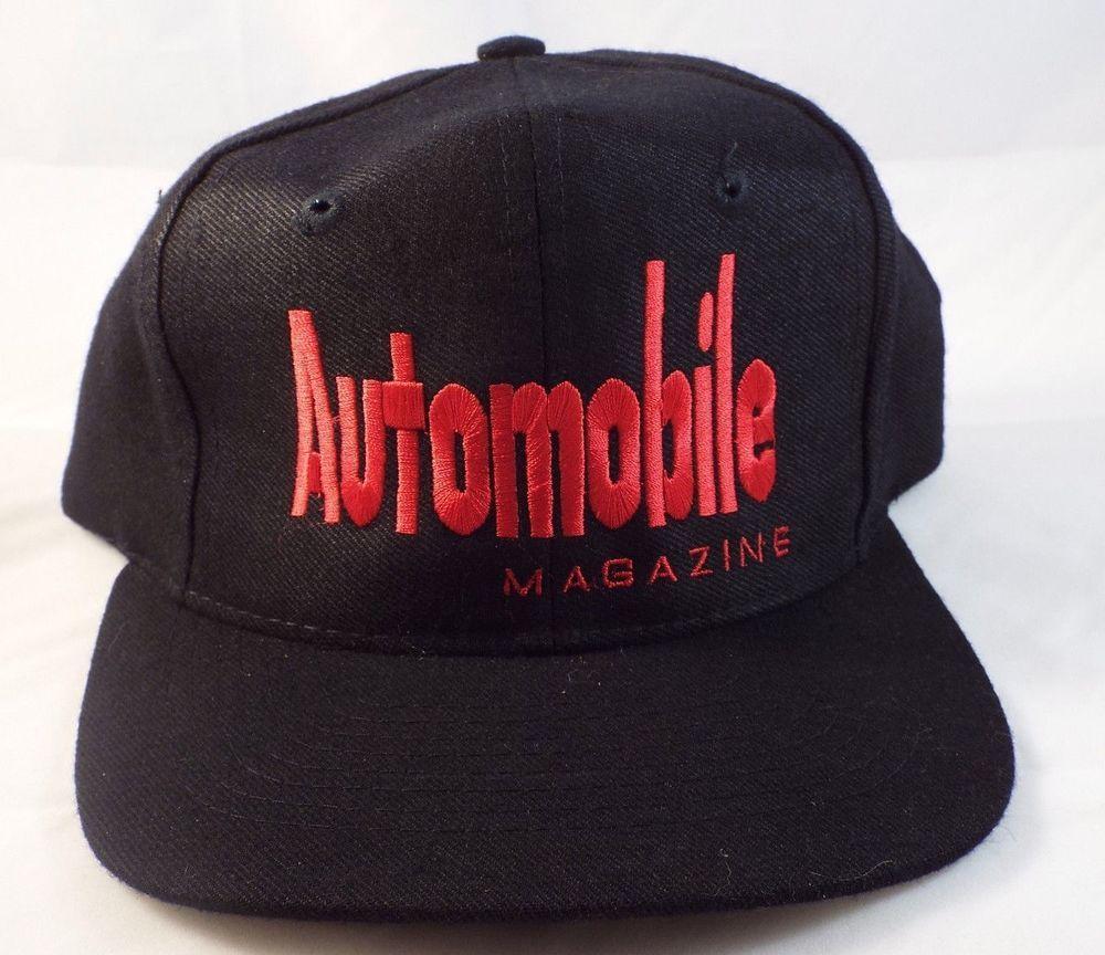 vtg NEW Automobile Magazine Snapback Trucker hat cap Cars