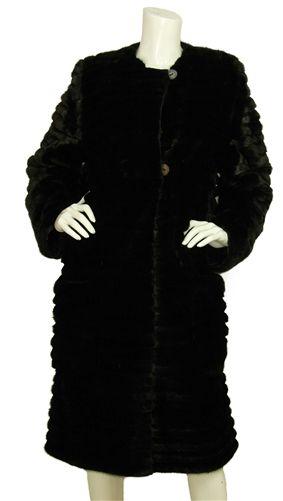 Fendi Black Mink Coat Reversible to a Silk Coat