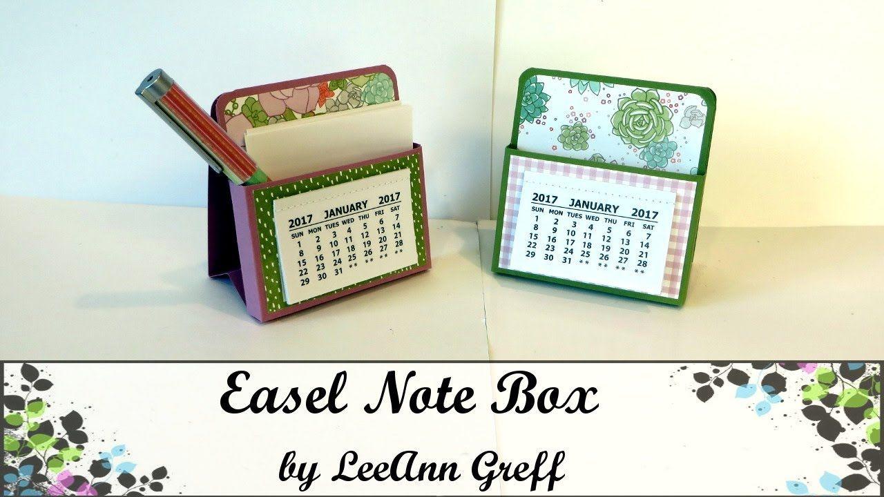 Acalendar Anleitung easel calendar note box - youtube | post it holder, calendar