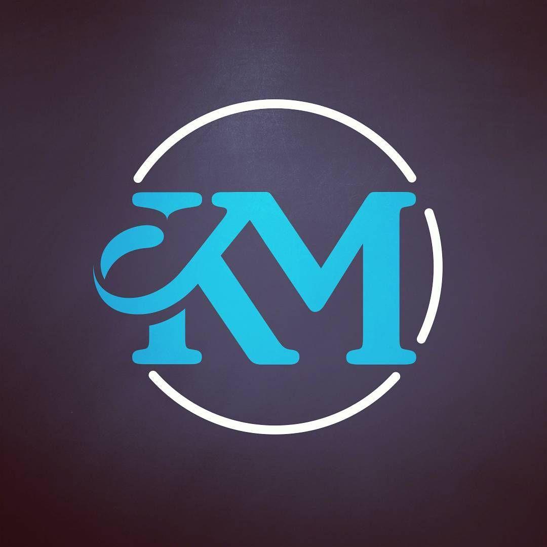 Km Monogram Logo Design Artdirection Agency Work Graphicdesign Monogram Logo Design Monogram Logo Letters Logo Design Art