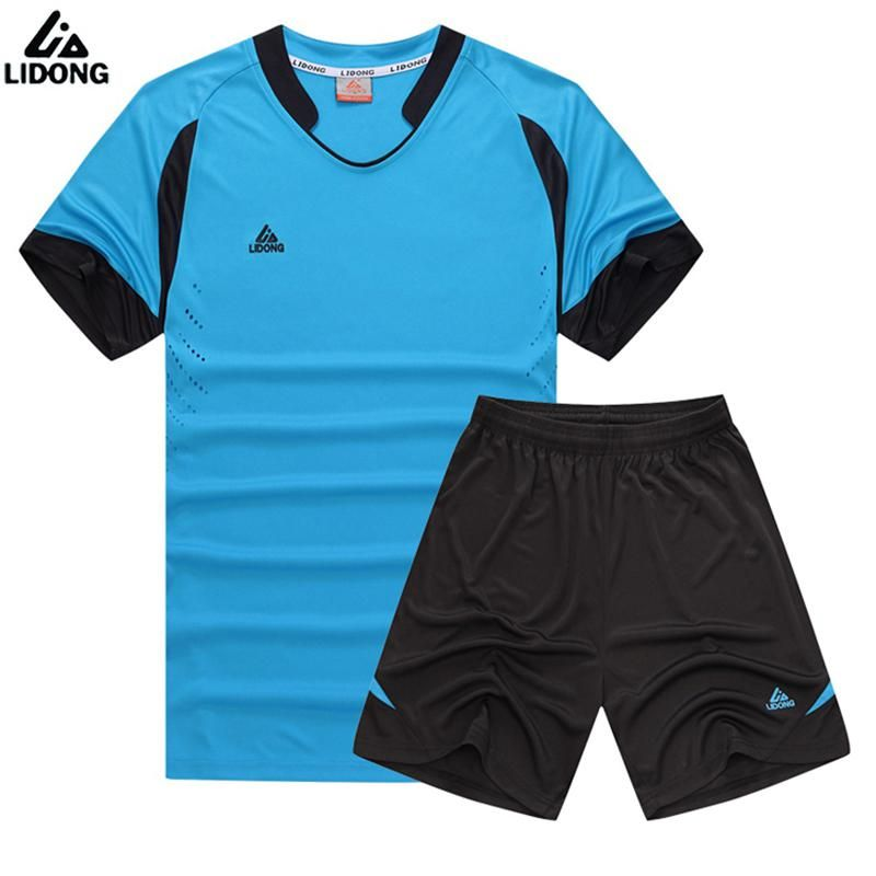 ff30e9835 LIDONG Summer Kid Futbol Training Suit Boys Soccer Jersey Youth Set Kids  Football Kits Blank Maillot