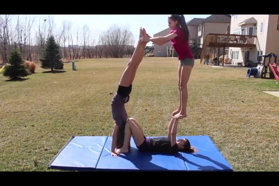 3 Person Acro Stunt Acro Yoga Poses Yoga Challenge Poses Gymnastics Poses