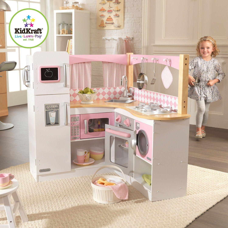 Kidkraft Grand Gourmet Corner Kitchen Kids Play Kitchen Play