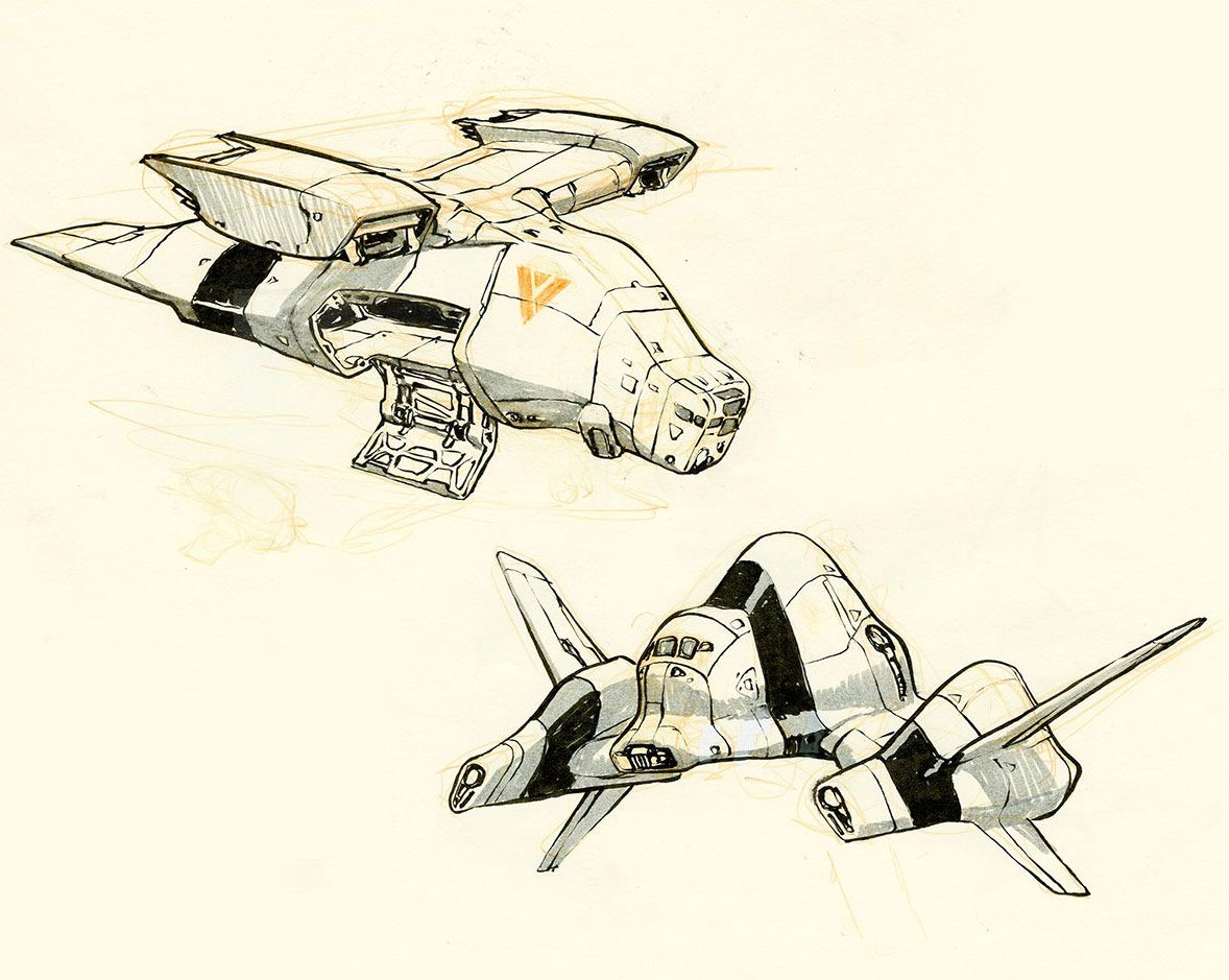 concept ships: Spaceship sketches by Jake Parker