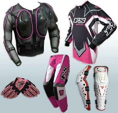 Women Ladies Body Armour Jerseypants Gloves Knee Guards Dirt Bike Gear Motocross Dirt Bike Gear Dirt Bike Bike Gear