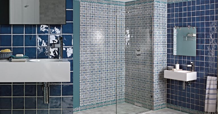 Blue Wet Room Wetrooms Pinterest Tiles Bathroom And Fired