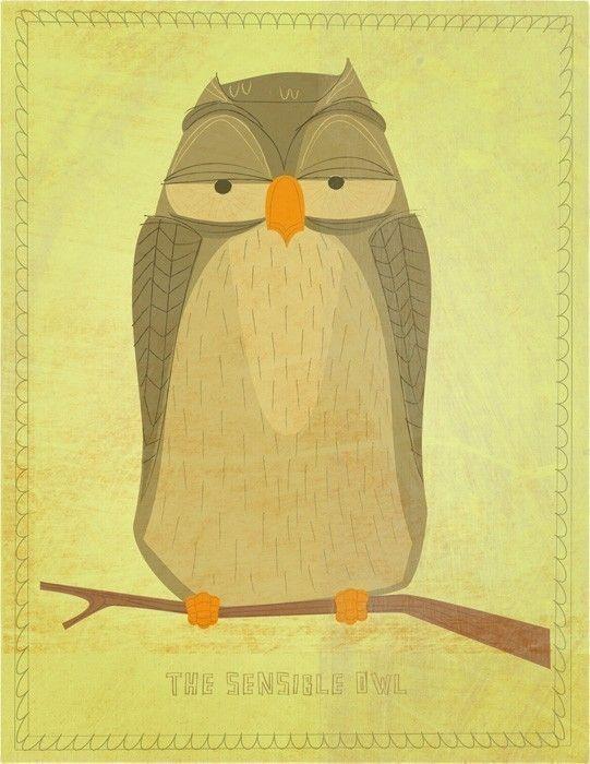 'The Sensible Owl' by John W. Golden