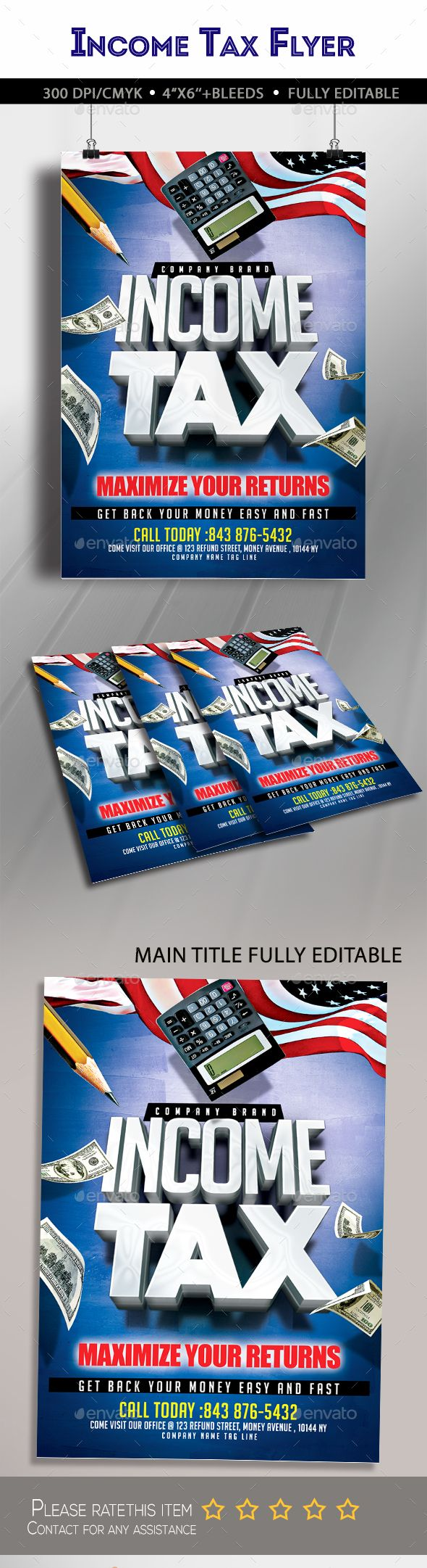 Income Tax Flyer | Party flyer, Flyer template and Fonts