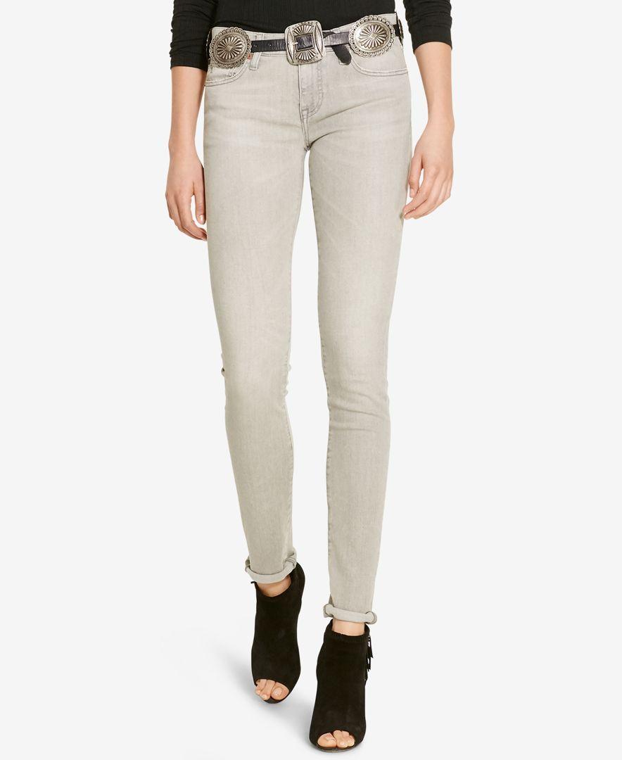 Polo Ralph Lauren Tompkins Fringed Skinny Jeans - Jeans - Women - Macy's