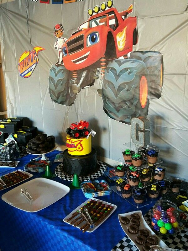 Blaze And Monster Machine Party Ideas 2nd Birthday