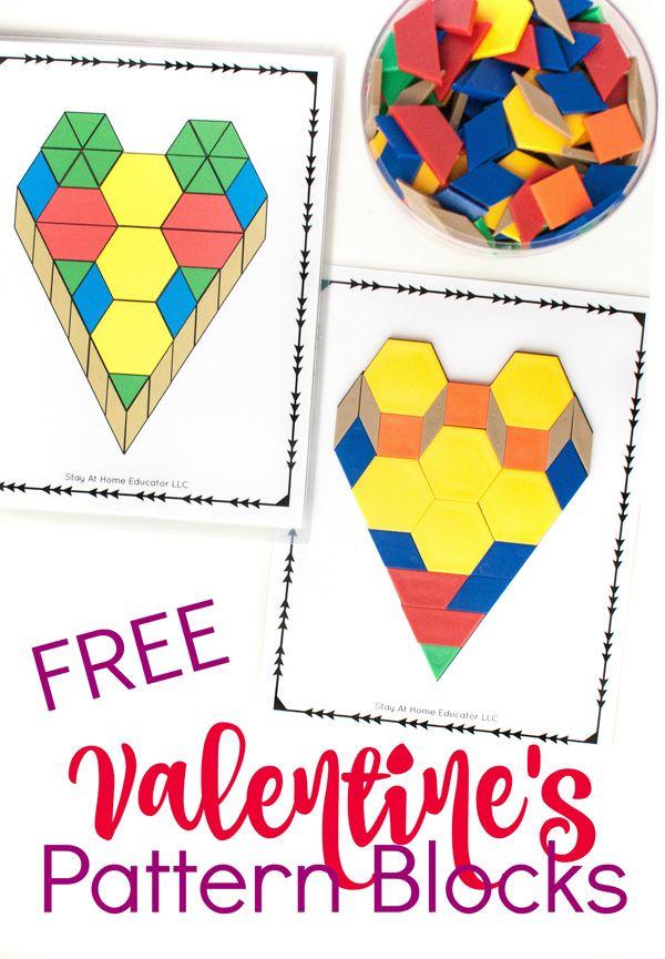 One FREE Printable. Five Valentine\'s Math Activities for Preschoolers.