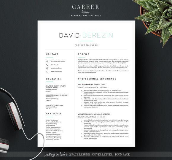 modern resume  u0026 coverletter template creativework247