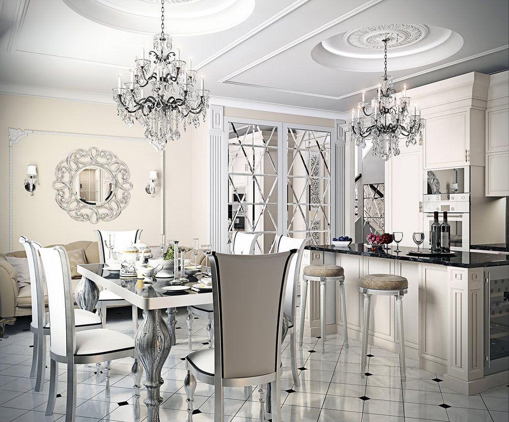 2 zimmer küchendesign Интерьер кухни в стиле артдеко  вариантов дизайна фото