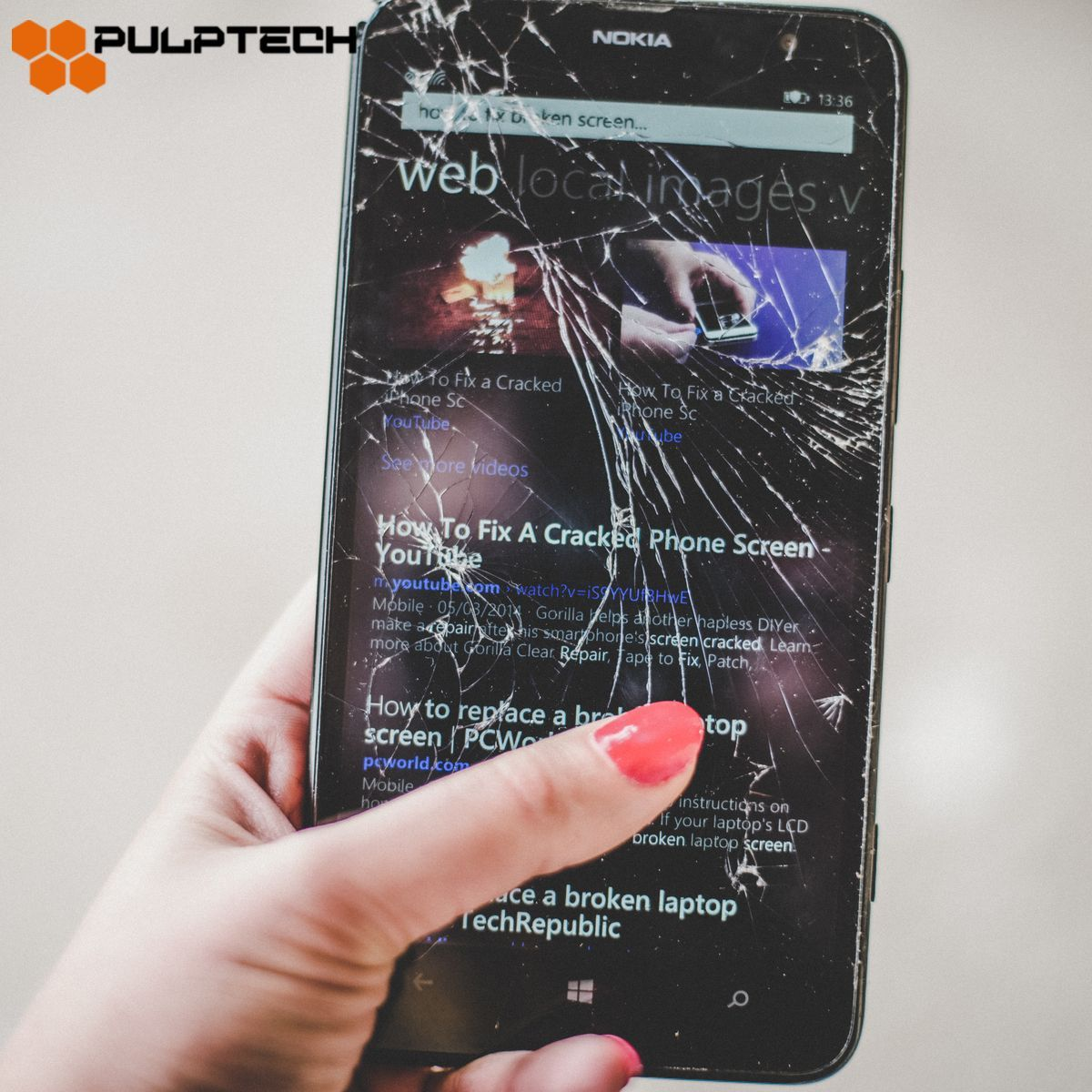 Cracked screen? Pulptech is here to repair your device